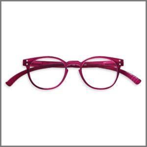 Lunettes de lecture pour presbytes M1743 (KP274-P15 T-JRD+4R24-C), lunettes loupes forme ronde et design pour homme et femme